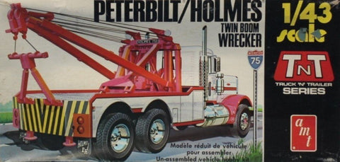 AMT 1:43 Peterbilt Holmes Twin Boom Wrecker Plastic Model Kit #T705U N/A AMT