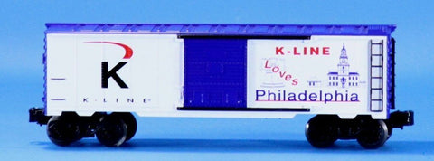 K-Line 1:48 O Scale Loves Philadelphia 0-27 Gauge 641-740803 Boxcar Box Car