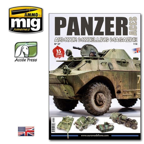Ammo of Mig Jimenez Panzer Aces #57 English Magazine #PANZ0057 N/A Ammo of Mig Jimenez
