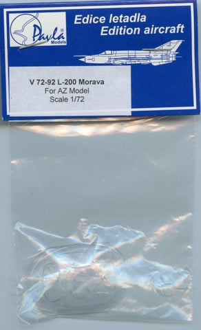 Pavla Models 1:72 L-200 Morava Vacuformed Canopy For AZ Model #V72-92 N/A Pavla Models