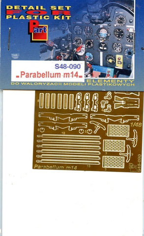 Part 1:48 Parabellum M14 - PE Detail Set #S48090 N/A Part