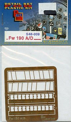 Part 1:48 Fw-190 A/D Flaps PE Detail Set for Dragon Tamiya #S48009 N/A Part