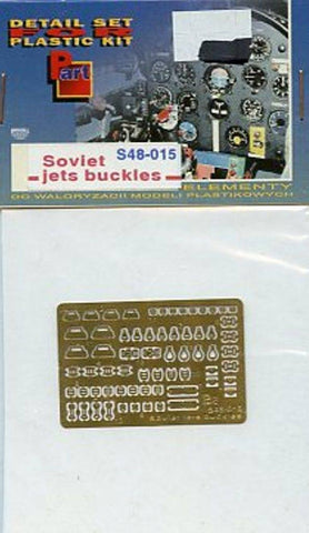 Part 1:48 Soviet Jets Buckles PE Detail Set #S48015 N/A Part