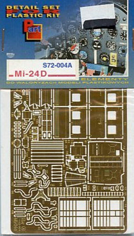 Part 1:72 Mi-24 D Exterior #1 PE Detail Set for Revell Italeri #S72004A N/A Part