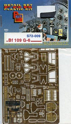 Part 1:72 Messerschmitt Bf-109 G-6 PE Detail Set for Italeri #S72009 N/A Part