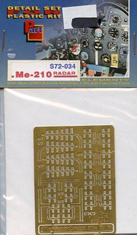 Part 1:72 Messerschmitt Me-210 Radar PE Detail Set for Bilek Italeri #S72034 N/A Part