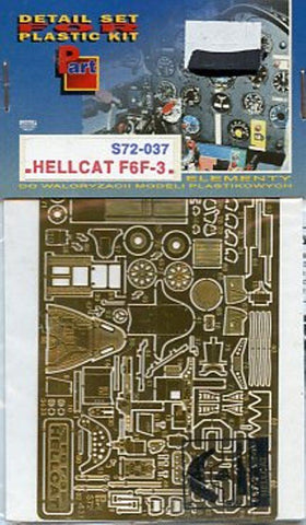 Part 1:72 Hellcat F6F-3 PE Detail Set for Academy #S72037 N/A Part