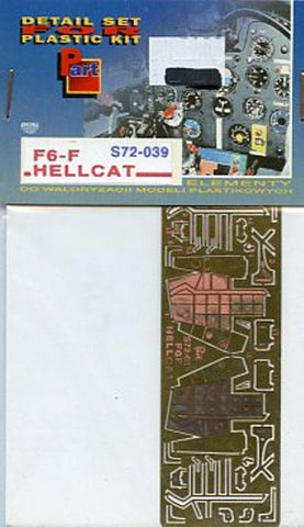 Part 1:72 Hellcat F6-F Undercarriage PE Detail Set for Academy #S72039 N/A Part