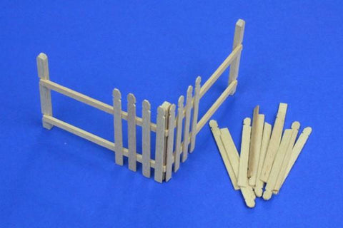 RB Model 1:35 Wooden Palings Corner - Wood Diorama Accessory #35D04 N/A RB Model