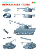 Rye Field Model 1:35 Bergepanzer Tiger I Tank Recovery Vehicle Plastic #5008