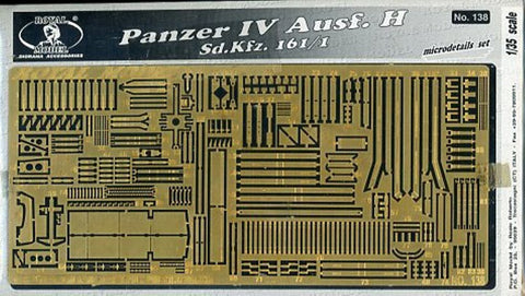 Royal Model 1:35 German Panzer IV Ausf.H Sd.Kfz.161/1 PE Detail #138U N/A Royal Model