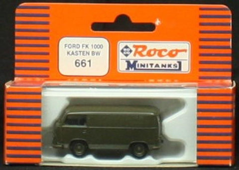 Roco Minitanks HO Scale Ford FK1000 BW Van Cargo Box Body Plastic Accessory #661