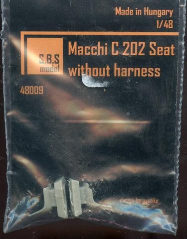 SBS Model 1:48 Macchi C 202 Seats Without Harness #48009 N/A SBS Model