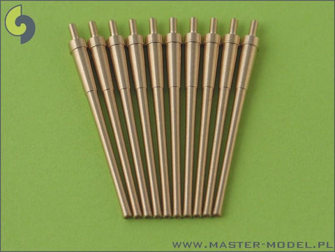 Master 1:350 IJN L/50 8 Inch 3rd Year No.2 Barrel without Blastbag 10pc SM350032 N/A Master Model