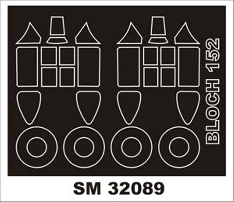Montex Mini Mask 1:32 Bloch 152 for Azur Kit Spraying Stencil #SM32089 N/A Montex Mask