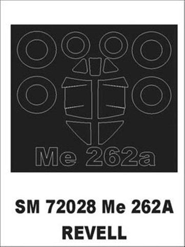 Montex Mini Mask 1:72 Me-262 A for Revell Kit Spraying Stencil #SM72028 N/A Montex Mask