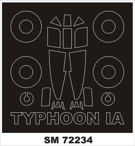 Montex Mini Mask 1:72 Typoon Ia for Brengun Kit Spraying Stencil #SM72234 N/A Montex Mask