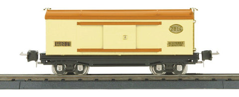 Lionel 1:48 O Scale 2814 Series Box Car Cream Orange w/ Brass Trim #11-70002 N/A Lionel