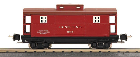 Lionel Electric Trains 1:48 O Scale 2817 Series Caboose Red & Brown #11-70029 N/A Lionel