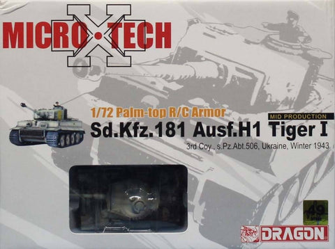 Dragon 1:72 Palm-top R/C Armor Micro Sd.Kfz.181 Ausf.H1 Tiger I Model #65004 N/A Dragon
