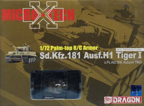 Dragon 1:72 Palm-top R/C Armor Micro Sd.Kfz.181 Ausf.H1 Tiger I Model #65003 N/A Dragon