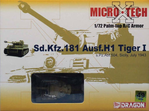 Dragon 1:72 Palm-top R/C Armor Micro Sd.Kfz.181 Ausf.H1 Tiger I Model #65002 N/A Dragon
