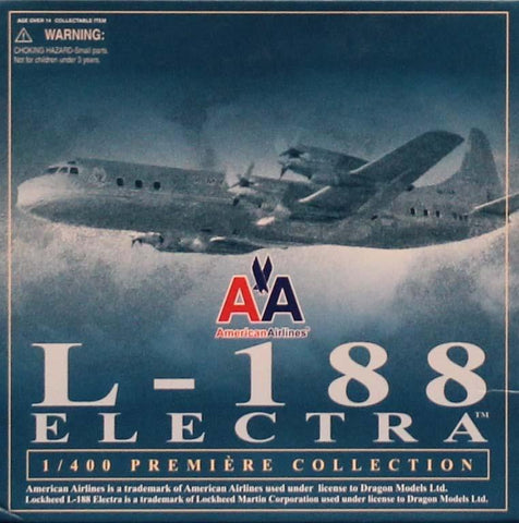 Dragon DML 1:400 American Airlines L-188 A Electra Built Model #55663