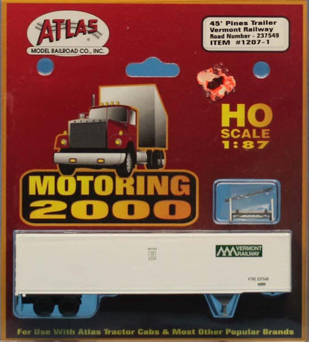 Atlas 1:87 HO Scale Motoring 2000 Trailer Vermont Railway Accessory #1207-1 N/A Atlas
