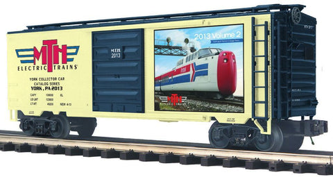 MTH 1:48 O Scale TCA Spring York #2013 40' Box Car Boxcar Train Model #20-93593 Ready to Run
