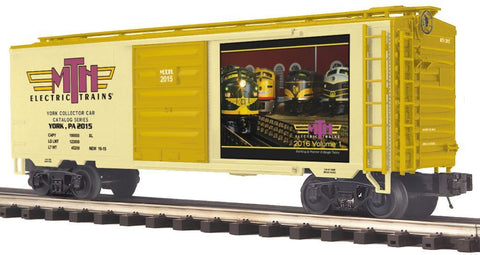 MTH 1:48 O Scale TCA Fall York #2015 40' Box Car Boxcar Train Model #20-93669 Ready to Run