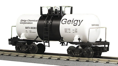 MTH 1:48 O Scale Geigy Chemical Corporation GATX #88383 Tank Car Train Model#20-96015