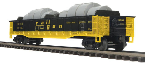 MTH 1:48 O Scale Railgon MTHRRC-2012 GONX #310685 Gondola Car w/Coil Steel Load Train Model #20-98874 Ready to Run