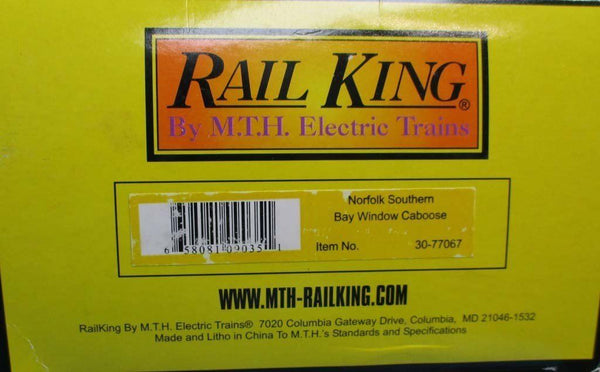 MTH 1:48 O Scale Rail King Norfolk Southern NS #63297 Bay Caboose Car  #30-77067