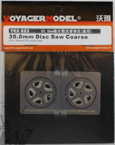 Voyager 30.0mm Disc Saw Coarse Detail Set #TEZ023 N/A Voyager Model