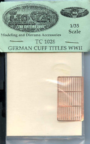 Tech Star 1:35 German Cuff Titles WWII PE Detail #TC1028 N/A Tech Star