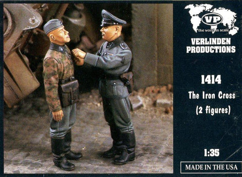 Verlinden 1:35 The Iron Cross 2 Resin Figures Kit #1414 N/A Verlinden