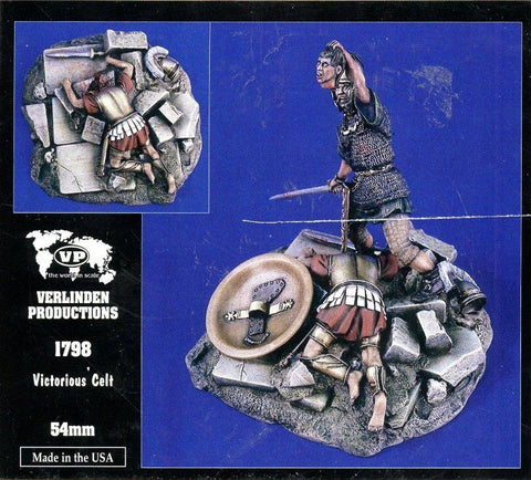 Verlinden 1:32 54mm Victorious Celt Resin Figure Kit #1798 N/A Verlinden