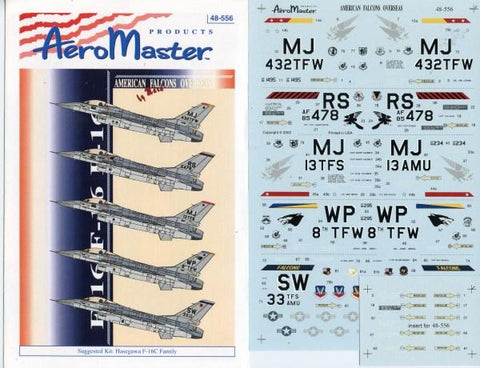 Aero Master Decals 1:48 American Falcons Overseas Decal Sheet #48-556 N/A Aero Master Decals