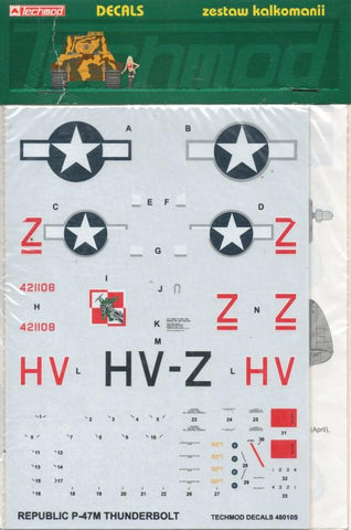 Techmod Decals 1:48 Republic P-47M Thunderbolt #48010S N/A Techmod Decals