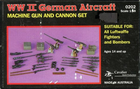 Cavalier Zimmerit 1:48 WWII German Aircraft Machine Gun & Cannon Set #0202 N/A Cavalier Model