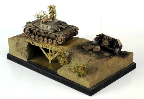 Verlinden Built 1:48 StuG and T-34 Section Diorama Original Display  #VPBxxxx19