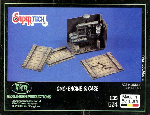 Verlinden 1:35 GMC-Engine & Case Multi-Media Diorama Accessory #524 N/A Verlinden