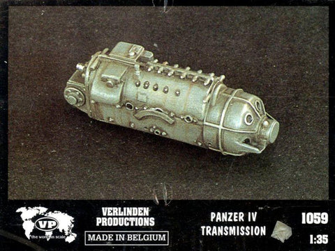 Verlinden Productions 1:35 Panzer IV Transmission - Resin Detail #1059 N/A Verlinden