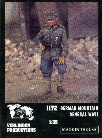 Verlinden Productions 1:35 WWII German Mountain General - Resin Figure #1172 N/A Verlinden