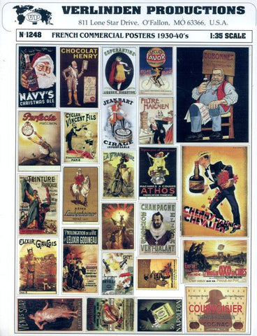 Verlinden Productions 1:35 French Commercial Advertising Posters 1930-1940 #1248 N/A Verlinden Productions