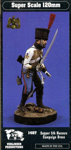 Verlinden 120mm 1:16 Sapper 5th Hussars Campaign Dress Resin Kit #1487 N/A Verlinden Productions
