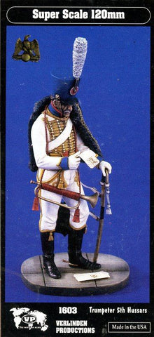 Verlinden Productions 120mm 1:16 Trumpeter 5th Hussars - Resin Figure Kit #1603 N/A Verlinden Productions