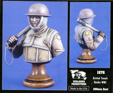 Verlinden Productions 200mm WWII British Trench Raider - Resin Bust Kit #1876 N/A Verlinden