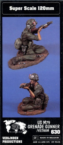 Verlinden 1:16 120mm US M79 Grenade Launcher in Vietnam Resin Figure Kit #630 N/A Verlinden