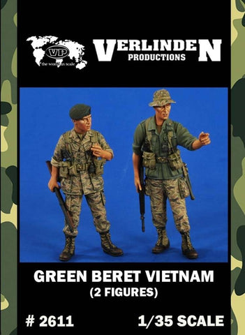 Verlinden 1:35 Green Beret Vietnam - 2 Resin Figures Kit #2611 N/A Verlinden
